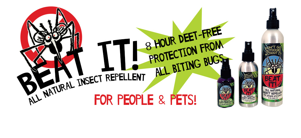 Beat IT! All Natural Insect Repellent - 8 Hour Deet-Free Protection From All Biting Bugs